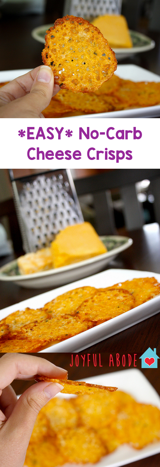 Homemade baked cheese crisps for Atkins cuisine baking mix