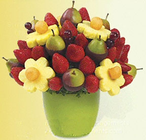 Finally For The Truly Ambitious There Are Centerpiece Bouquets With Flowers Made From Fruits Or Vegetables Half Inch Slices Of Melon Pineapple Can