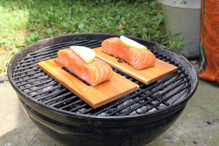 What is plank cooking for Grilling fish on cedar plank