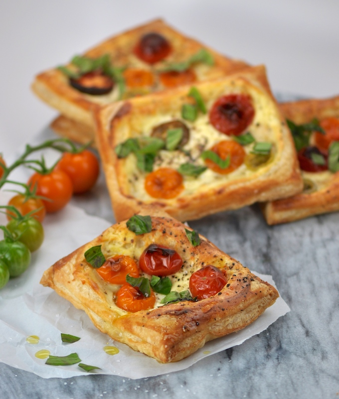 Easy Tomato and Ricotta Tarts