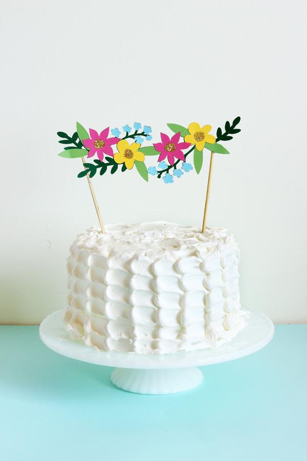 Spring cake topper garland