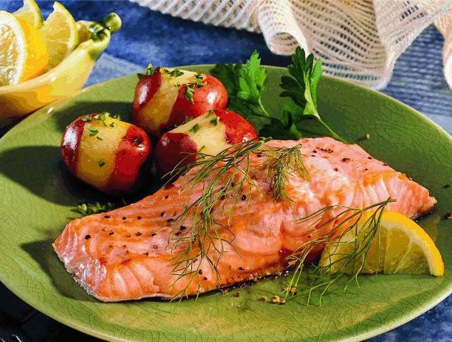 Broiled Fish With Summer Grape Tomato Sauce Recipe — Dishmaps