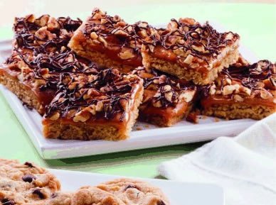 Caramel Turtle Bars