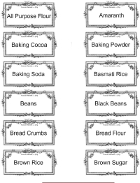 photograph regarding Printable Pantry Labels named Obtain Geared up with Cost-free and Beautiful Pantry Labels!