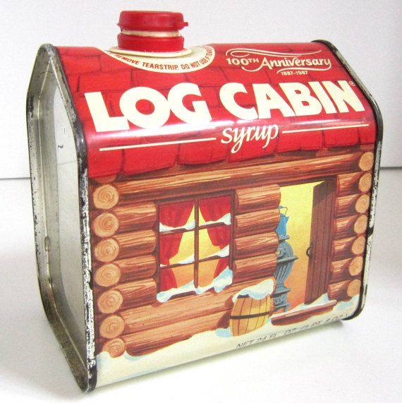 Log Cabin Syrup And Tins
