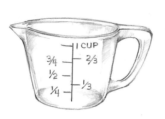 1/3 cup times 3