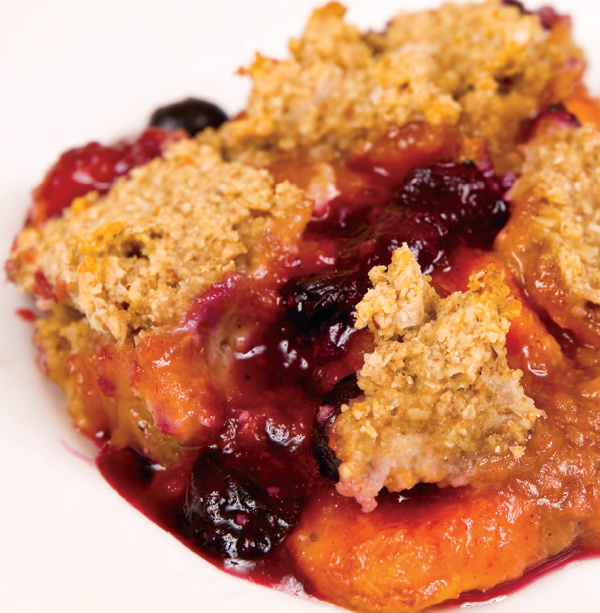 Peach And Blueberry Crisp Recipe — Dishmaps