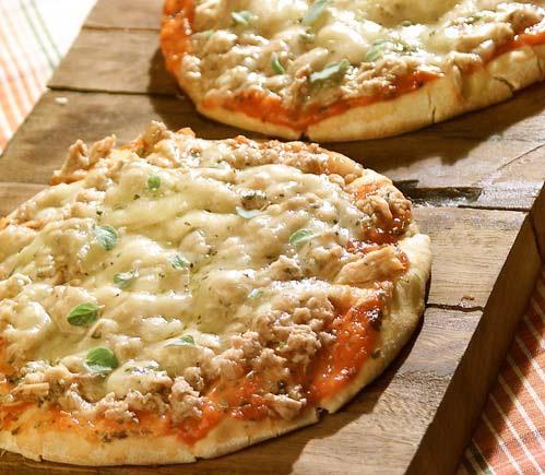 Ingredientes para pizza de atum