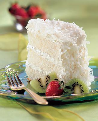 Key Lime-Coconut Angel Cake