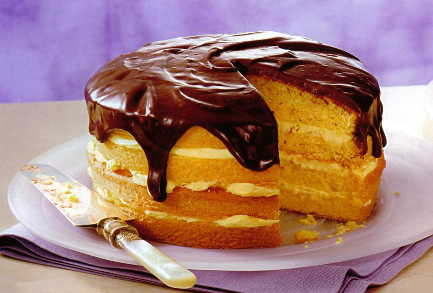 Boston Cream Pie Using Cake Mix And Pudding