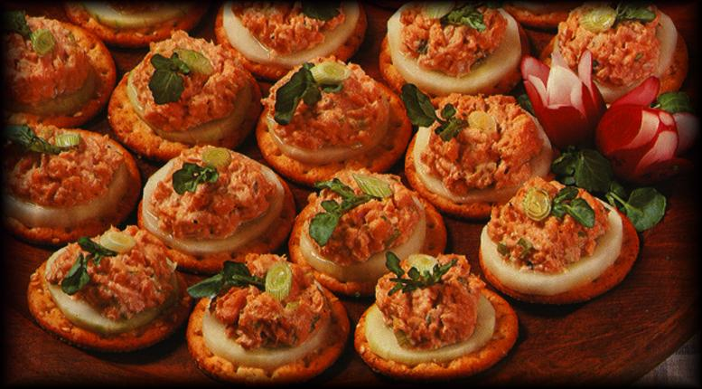 Salmon canapes for Canape spread