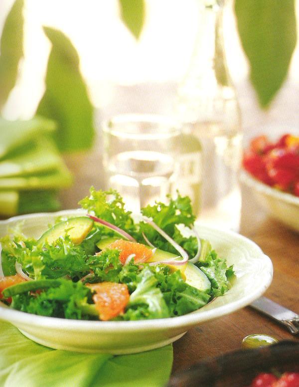 Chopped Escarole Salad With Grapefruit And Avocado