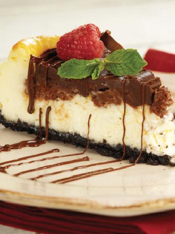 Chocolate Raspberry Truffle Cheesecake Calories