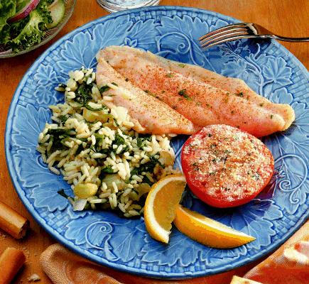 Fish and fennel rice for Fish and rice recipes