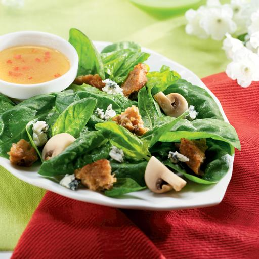Cheddar Burger Spinach Salad