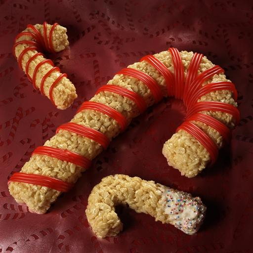 Rice Krispies Treats Candy Canes