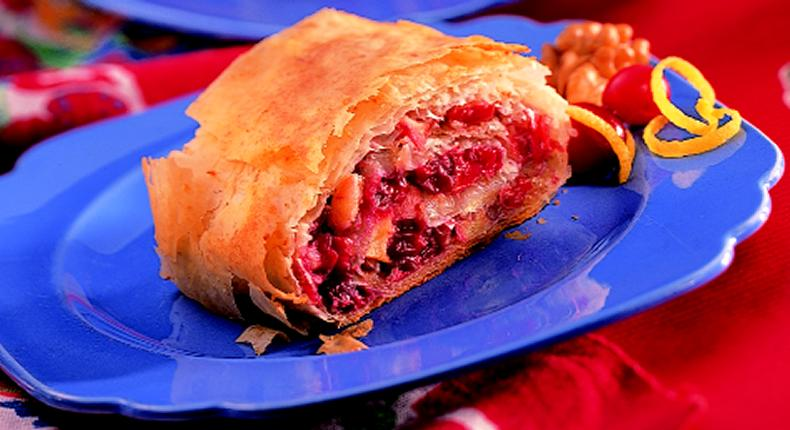 Apple-Cranberry Strudel