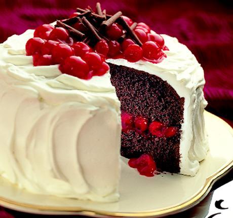 Dark Chocolate Cake With Cherry Filling