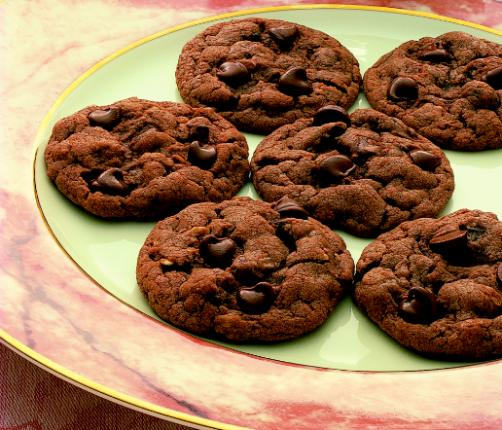 Double Chocolate Chip Cookies Using Cake Mix