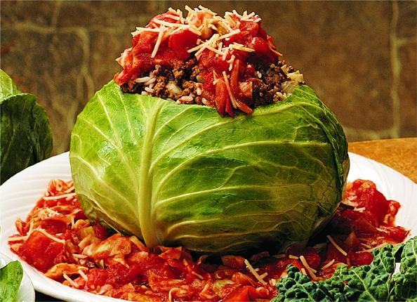 cabbage stuffed whole cabbage recipe vegetarian stuffed cabbage ...