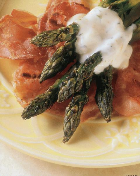 Grilled Asparagus With Prosciutto And Orange Mayonnaise