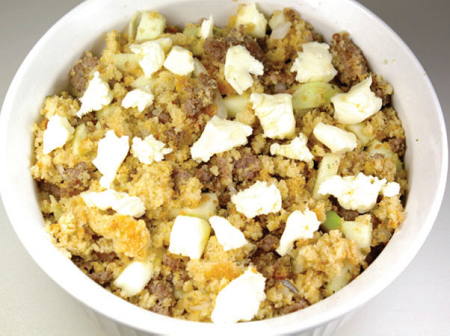 Cornbread Apple Sausage Stuffing