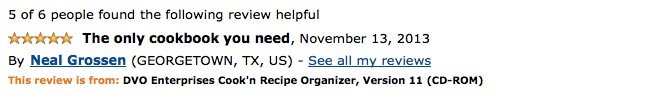 Cook'n in Amazon page