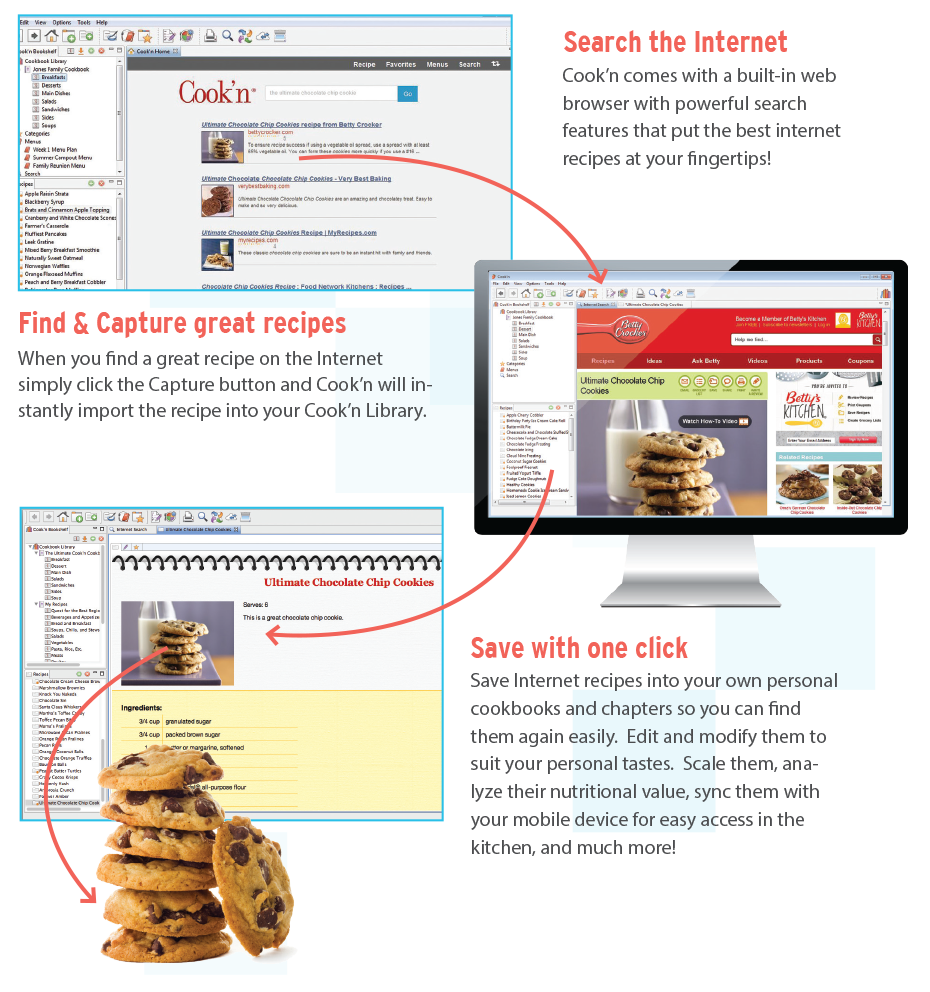 Capture internet recipes