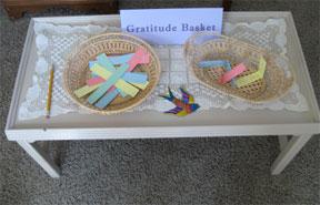 Gratitude basket