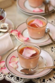 Rose Hips Jelly Syrup Custard